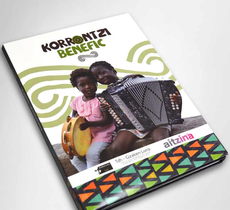 Korrontzi Benefic. Diseño del estuche CD
