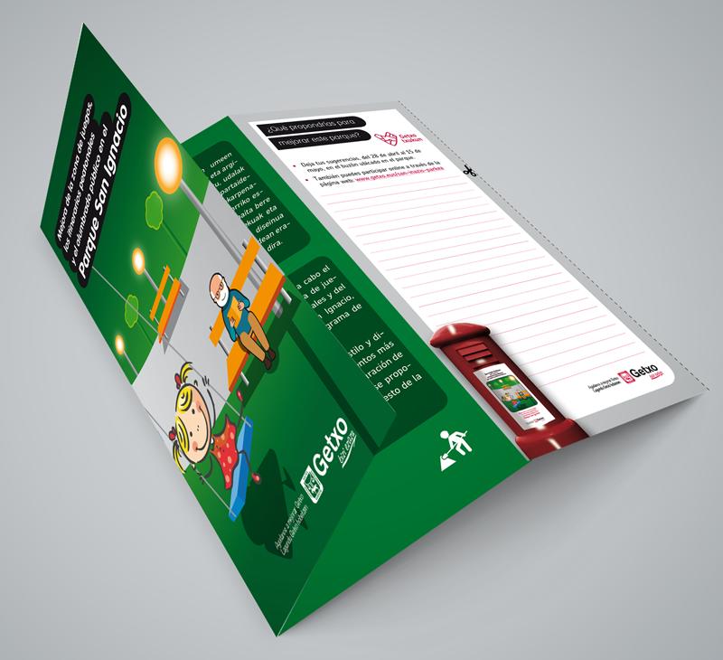 Diseño de folleto para el ayto. de Getxo