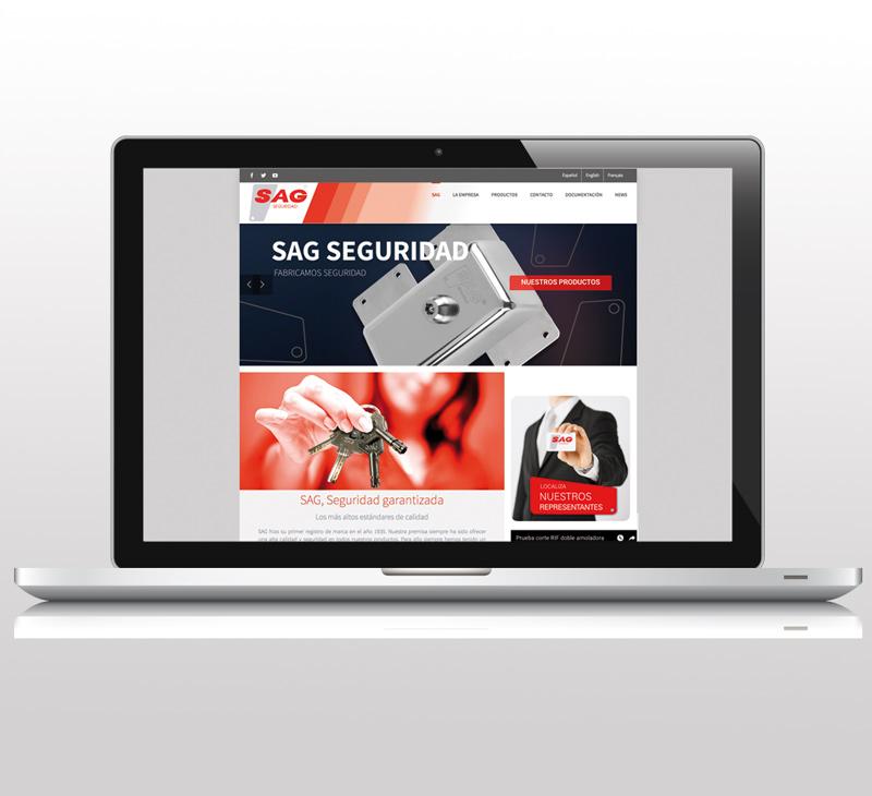 Diseño de pagina web: Sag Seguridad