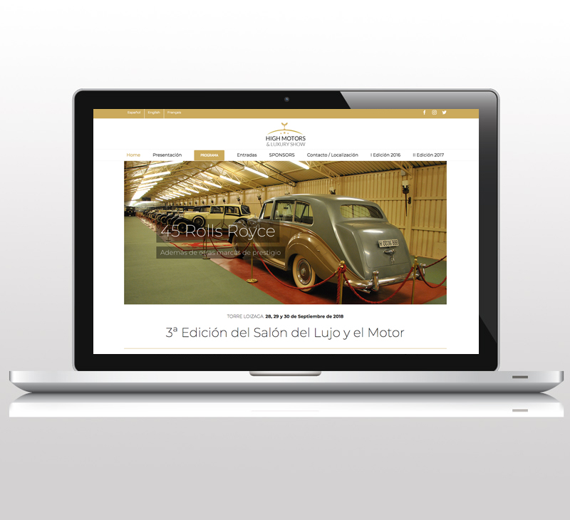 Diseño de pagina web: High Motors