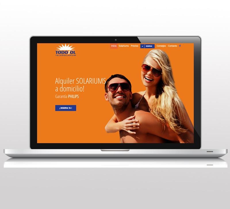 Diseño de pagina web: TodoSol