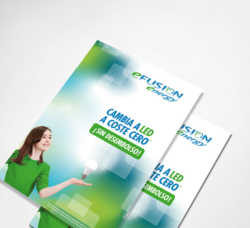 Diseño de folleto para la empresa Efusion Energy