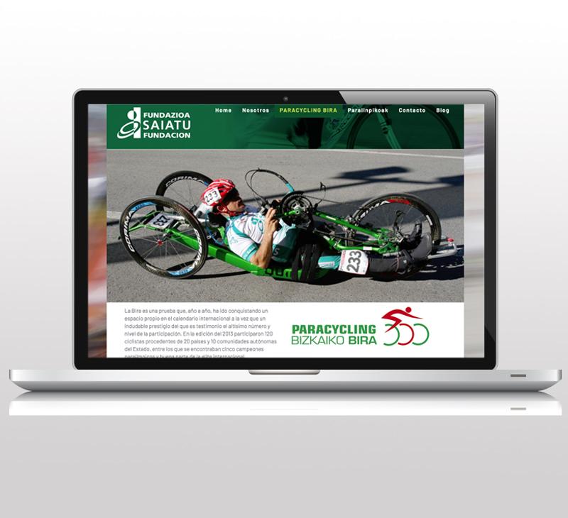 Diseño de sitio web: Saiatu